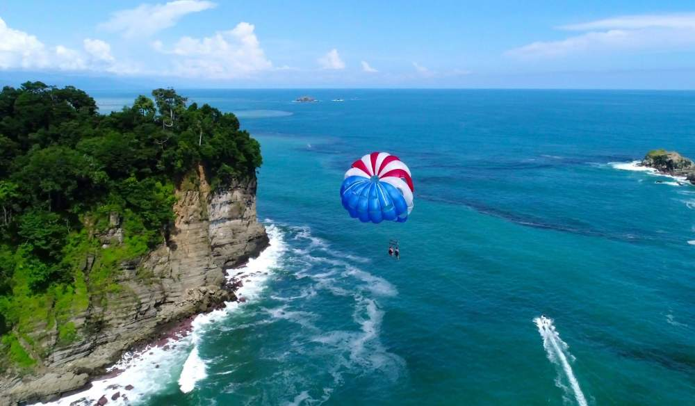 Parasailing Above Manuel Antonio Beach