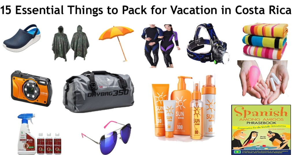 15 essential things to pack for a vacation in Costa Rica